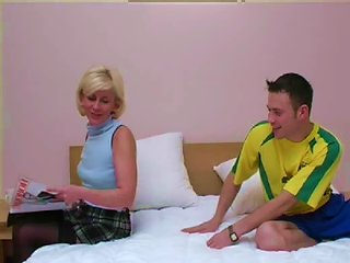 Sexy Russian Milf Likes Wearing Pantyhose While Fucking Men